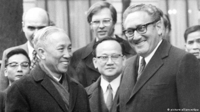 Henry Kissinger and Le Duc Tho at Paris talks