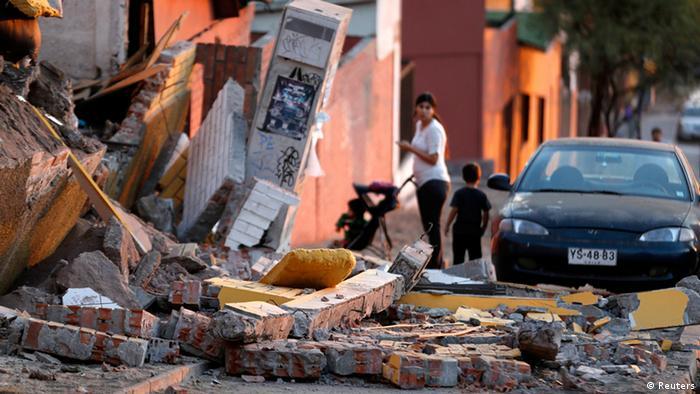 Chile Erdbeben Trümmer 3.4.14