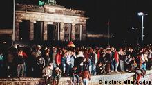 Deutschland Mauerfall Grenzöffnung Berlin Mauer