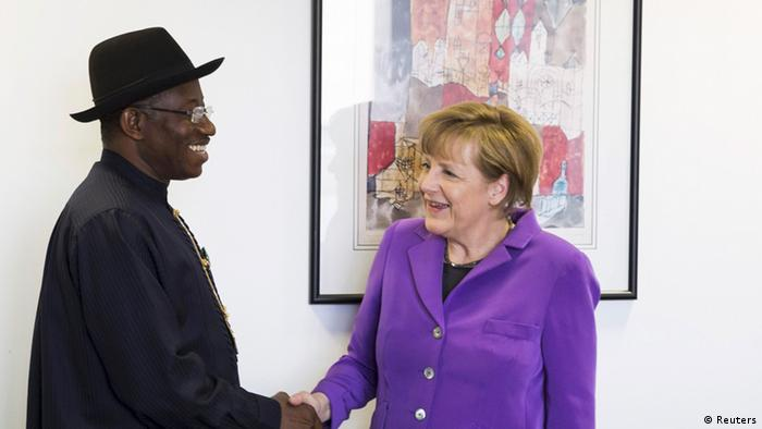 Goodluck Jonathan and Angela Merkel