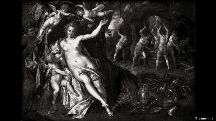 The oil painting Venus in Vulcan's Shmithy by Hendrik de Clerck