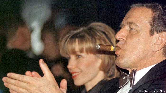 Gerhard Schröder 13.02.1999 Werderball Bremen