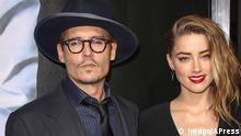 USA Schauspieler Johnny Depp und Amber Heard