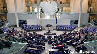 В зале пленарных заседаний бундестага