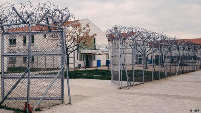 High fences of a refugee camp (photo: Medecins Sans Frontieres)