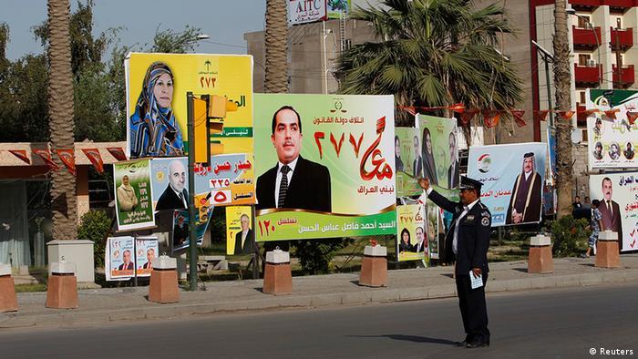 Irak Wahlen Wahlplakate in Bagdad