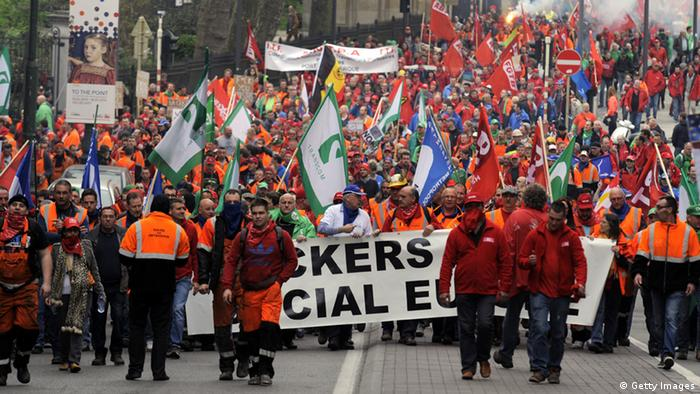 Europeans protest against austerity measures