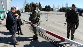 КПП на границе Украины и России
