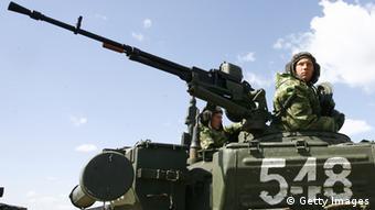 Symbolbild - russische Soldaten bei einer Übung