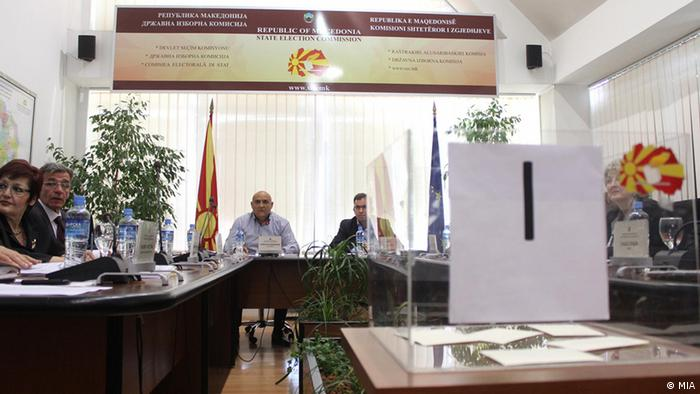 A meeting of the Macedonian electoral commission