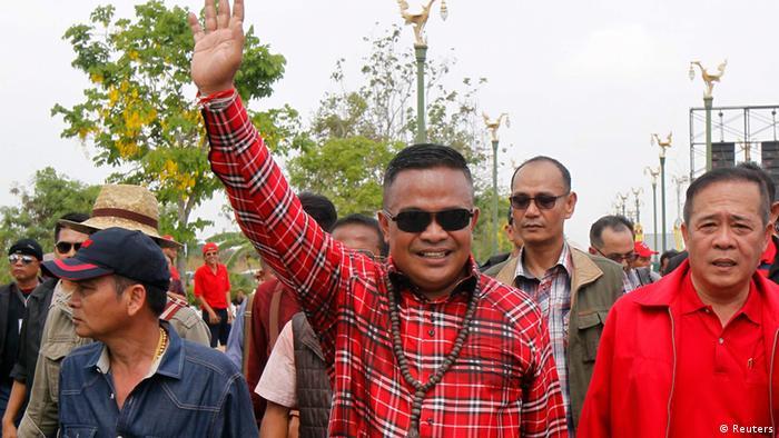 Rothemden protestieren in Bangkok