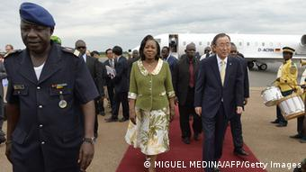 Ban Ki-moon in Bangui 5. April 2014
