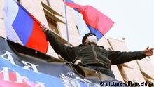 Pro-russische Proteste in Donezk, Ukraine 06.04.2014