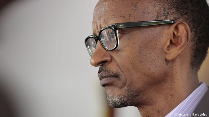 Portrait of Rwandan President Paul Kagame
