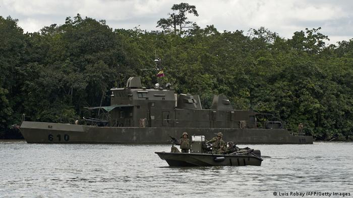 Kolumbien bei Guapi Armee Patrouillenboot
