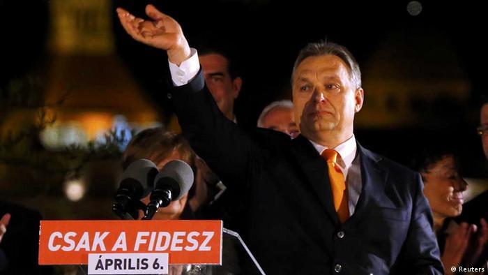 Viktor Orban / Ungarn / Parlamentswahl (Reuters)