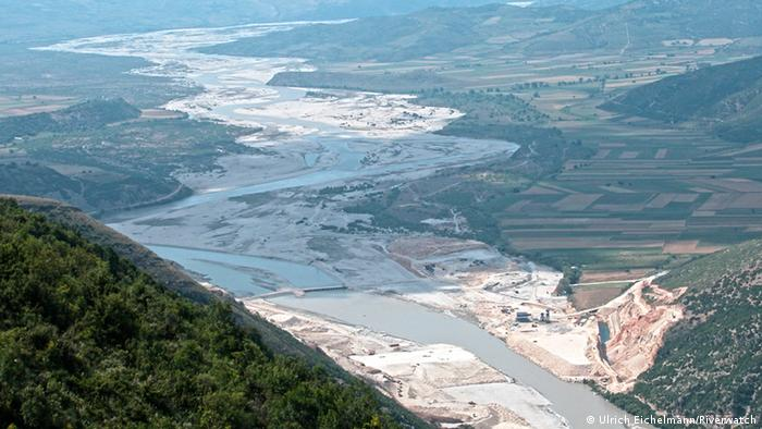 Kalivac dam project on the Vjosa River