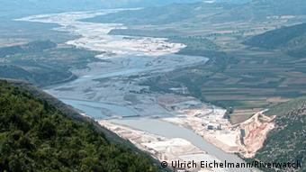 Vjosa Albanien Kalivac Damm Projekt Bau
