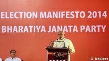 Indien Parlamenstwahlen 2014 Narendra Modi BJP