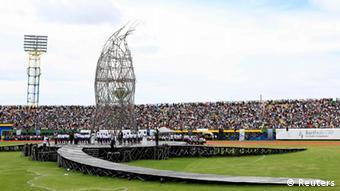 Ruanda Genozid Gedenkfeier 07.04.2014 Stadion