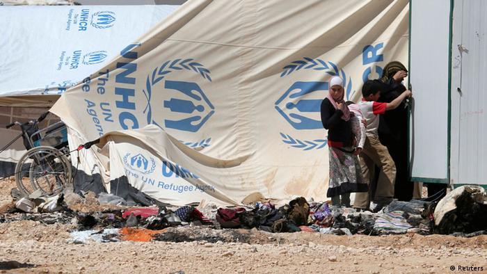 Jordanien, Flüchtlingslager Saatari Ausschreitungen UNHCR 06.04.2014