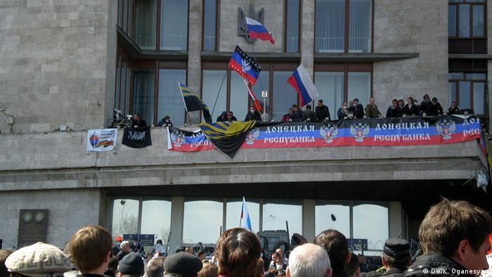 Ukraine prorussische Aktivisten besetzen Gebäude in Donetsk
