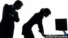 business woman man couple sexual harassment silhouette#61704250 -© snaptitude