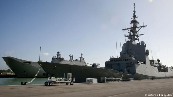 Destroier USS Donald Cook em sua base na Espanha