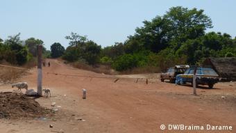 Die Grenze des Buruntuma, zwischen Guinea-Bissau und Guinea Konacry
