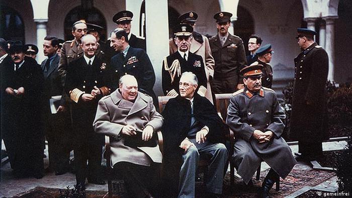 Участники конференции в Ялте, 4 - 11 февраля 1945 года