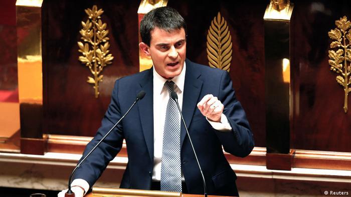 Frankreich Premierminister Manuel Valls