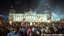 Feier der deutschen Wiedervereinigung vor dem Berliner Reichstag