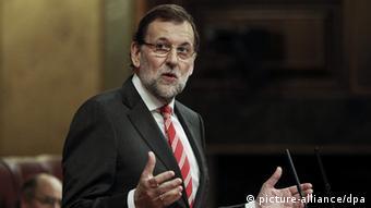 Mariano Rajoy im Parlament Spanien (Foto: picture alliance/dpa).