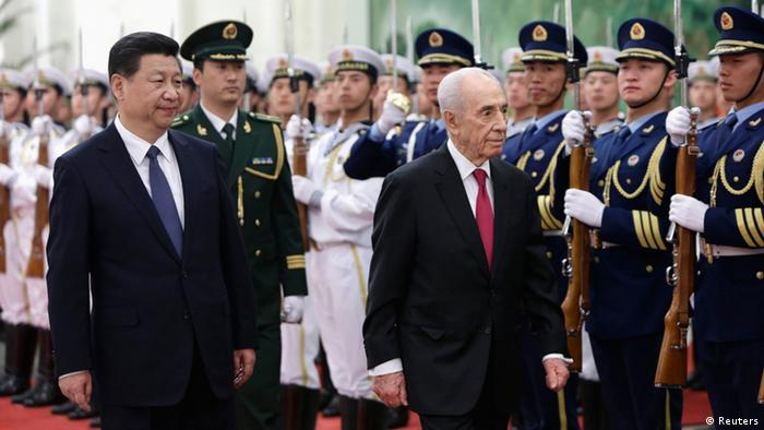 Shimon Peres Besuch in China mit Xi Jinping 08.04.2014