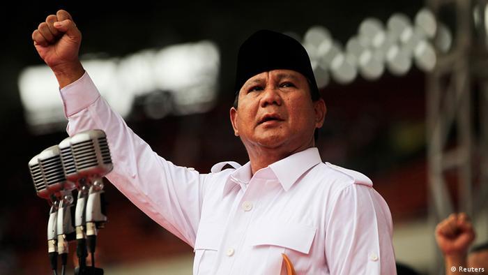 Indonesien Wahlen Parlamentswahlen Präsidentschaftskandidat Prabowo Subianto