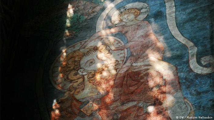 Фреска со Святым Христофором в храме Николая Чудотворца в Штральзунде