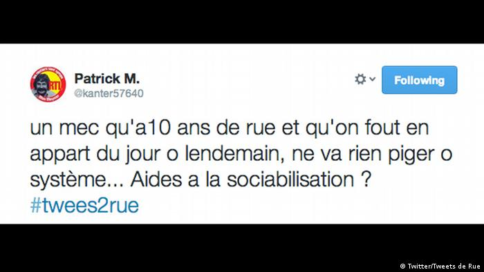 Screenshot Twitter Tweets de Rue Paris