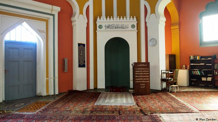 Prayer room of the Ahmadiyya mosque