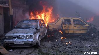 Syrien Homs Bombenanschlag 9.4.2014