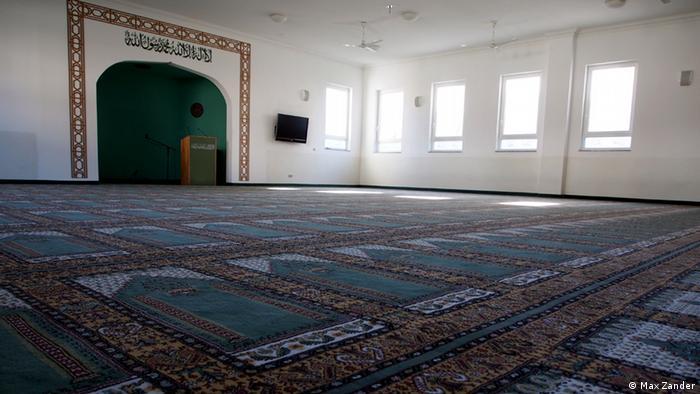 Der Gebetsraum verzichtet auf dekorative Elemente