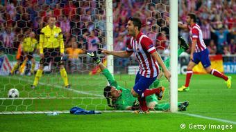 Koke trifft zum 1:0 für Atletico gegen Barcelona. Foto: Getty Images