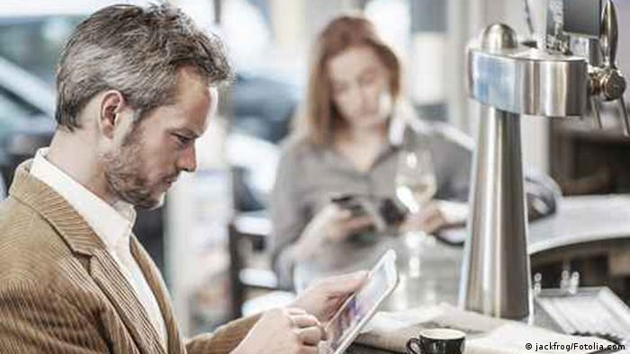 Slow reality: surfing on free WiFi while you're out and about