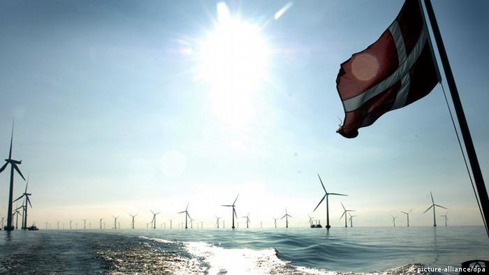 Offshore wind park in Denmark