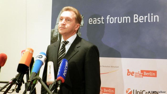 Игорь Шувалов на пресс-конференции в Берлине