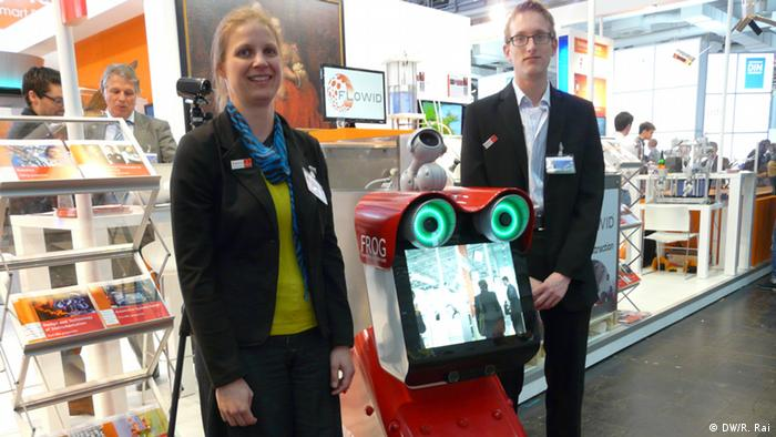 Hannover Messe 08.04.2014 Roboter FROG