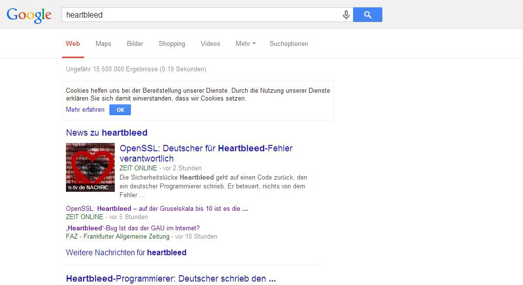 Screenshot google heartbleed