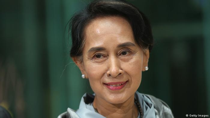 Aung San Suu Kyi im Willy Brandt Haus (Foto: Sean Gallup/Getty Images)