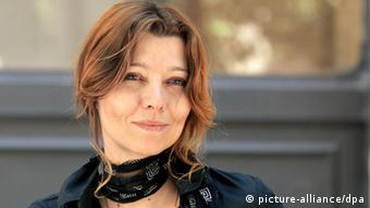 Turkish writer Elif Shafak poses for photographers before of a press conference in Rome, 4 june 2007, on the eve of International Literature Festival