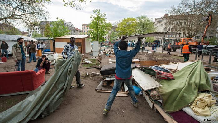 Flüchtlingslager Oranienplatz Berlin 08.04.2014