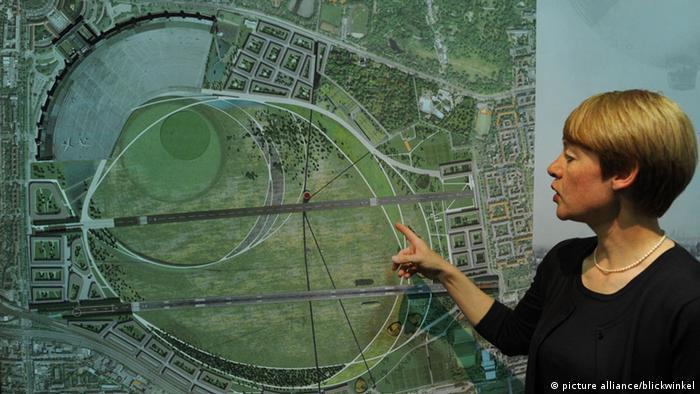 Landschaftsarchitektur Präsentation der Pläne für den Flughafen Tempelhof
